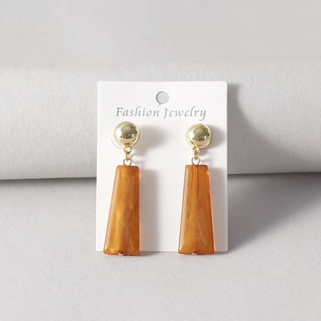 Alloy Fashion Geometric earring  (Coffee color)  Fashion Jewelry NHNZ1333-Coffee-color's discount tags