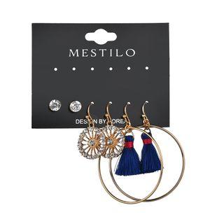 Alloy Fashion Tassel earring  (blue)  Fashion Jewelry NHBQ1958-blue's discount tags