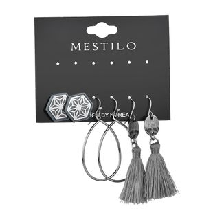 Alloy Fashion Tassel earring  (gray)  Fashion Jewelry NHBQ1962-gray's discount tags