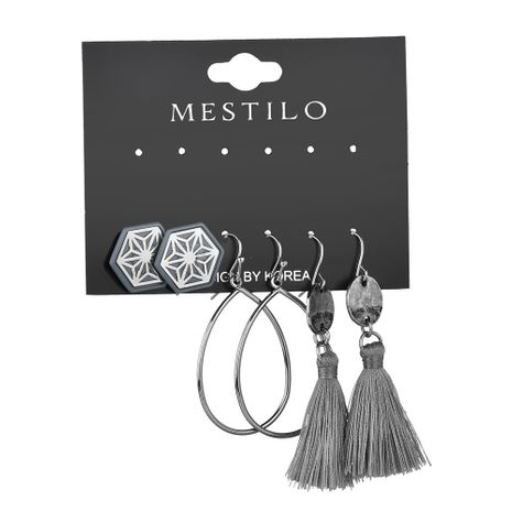 Alloy Fashion Tassel earring  (gray)  Fashion Jewelry NHBQ1962-gray's discount tags