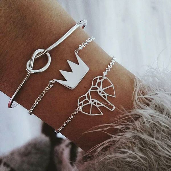 Alloy Fashion Geometric bracelet  (Crown crowns knotted love)  Fashion Jewelry NHBQ1964-Crown-crowns-knotted-love