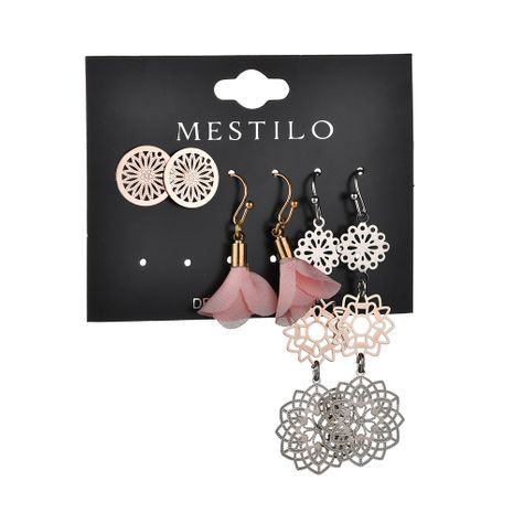 Alloy Fashion Flowers earring  (Pink)  Fashion Jewelry NHBQ1965-Pink's discount tags