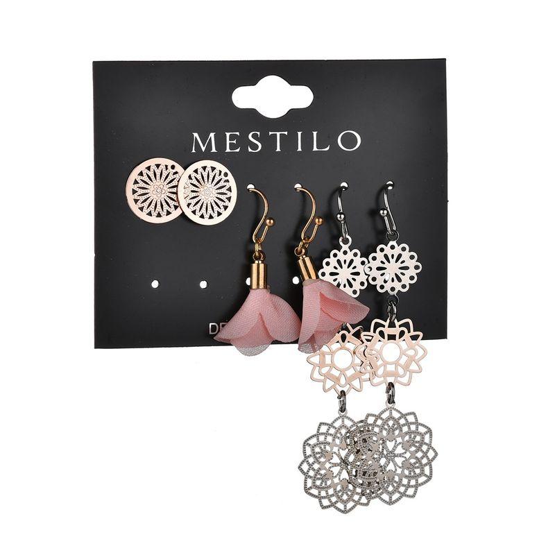 Alloy Fashion Flowers earring  (Pink)  Fashion Jewelry NHBQ1965-Pink