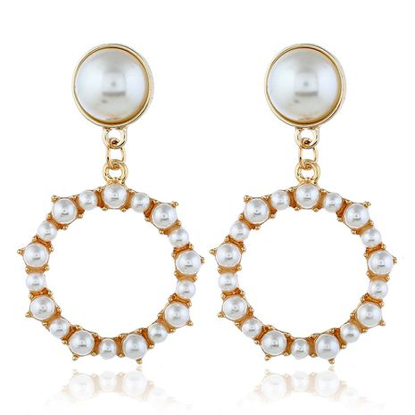 Alloy Korea Geometric earring  (White beads kc alloy)  Fashion Jewelry NHKQ2424-White-beads-kc-alloy's discount tags