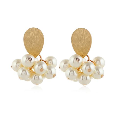 Alloy Korea Geometric earring  (White beads alloy)  Fashion Jewelry NHKQ2435-White-beads-alloy's discount tags