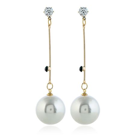 Alloy Korea Geometric earring  (White beads kc alloy)  Fashion Jewelry NHKQ2444-White-beads-kc-alloy's discount tags