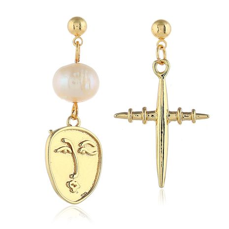 Alloy Korea Cartoon earring  (White beads kc alloy)  Fashion Jewelry NHKQ2449-White-beads-kc-alloy's discount tags