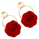 Alloy Fashion Flowers earring  white  Fashion Jewelry NHJQ11351white
