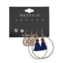 Alloy Fashion Tassel earring  blue  Fashion Jewelry NHBQ1958blue