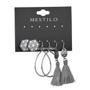 Alloy Fashion Tassel earring  gray  Fashion Jewelry NHBQ1962gray