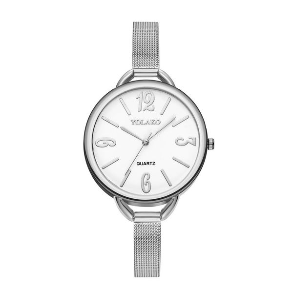 Alloy Fashion  Ladies watch  (Alloy belt white surface)   NHSY2016-Alloy-belt-white-surface