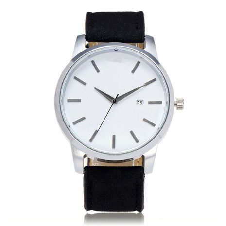 Alloy Fashion  Men s watch  (Black belt with white flour)   NHSY2059-Black-belt-with-white-flour's discount tags