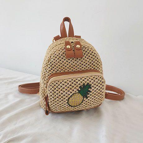 PU Fashion  backpack  (pineapple)   NHTC3441-pineapple's discount tags