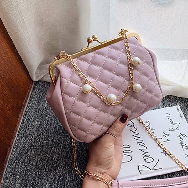 Polyester Korea  Shoulder Bags  (purple)   NHTC3461-purple