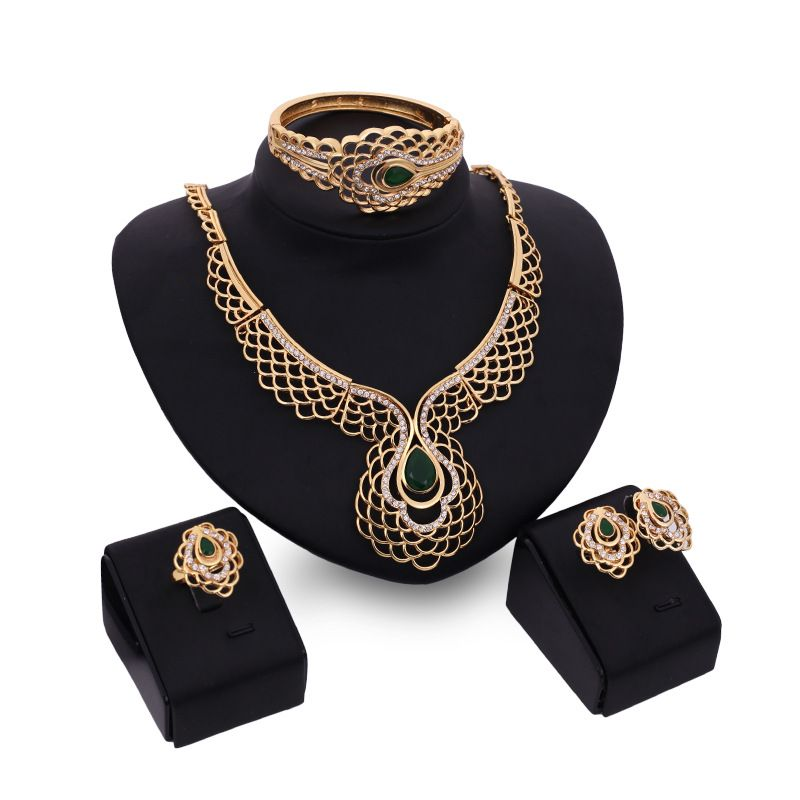 Alloy Fashion  necklace  18K alloy  61154113  Fashion Jewelry NHXS237218Kalloy61154113