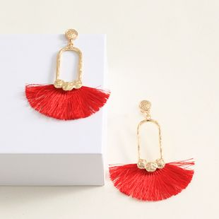 Alloy Fashion Tassel earring  (red)  Fashion Jewelry NHNZ1353-red's discount tags