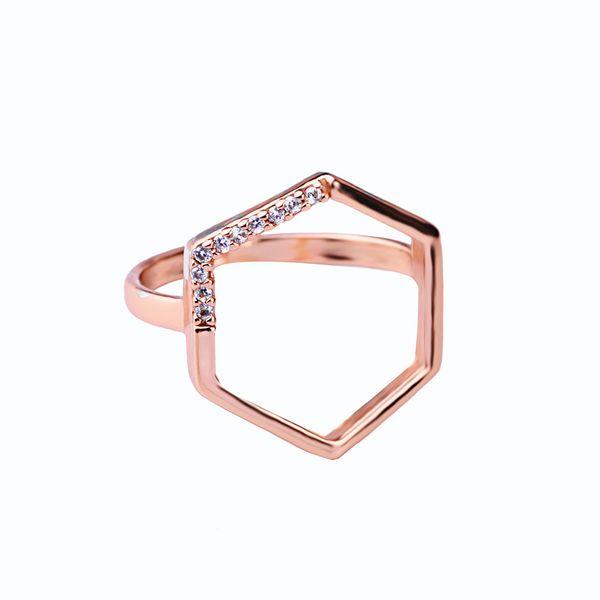 Copper Korea Geometric Ring  (Mj0017-1)  Fine Jewelry NHQD6379-Mj0017-1