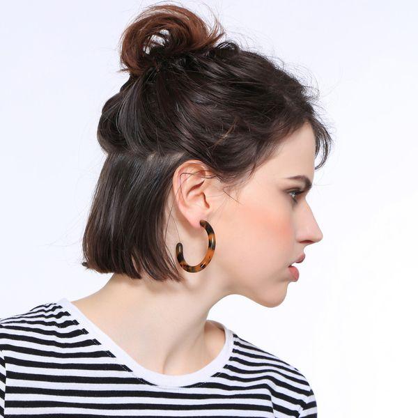 Plastic Fashion Geometric earring  (Photo Color)  Fashion Jewelry NHQD6382-Photo-Color