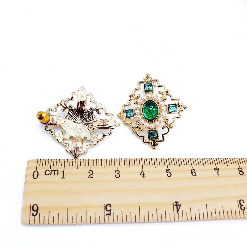 Alloy Fashion  earring  (Green rhinestone earrings)  Fashion Jewelry NHOM1581-Green-rhinestone-earrings