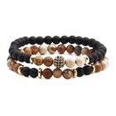 Copper Fashion Geometric bracelet  Tiger eye  Fine Jewelry NHYL0643Tigereye