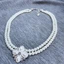 Alloy Korea Flowers necklace  Style one  Fashion Jewelry NHOM1573Styleone