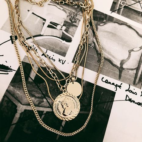 Alloy Fashion Geometric necklace  (Photo Color)  Fashion Jewelry NHYQ0003-Photo-Color's discount tags