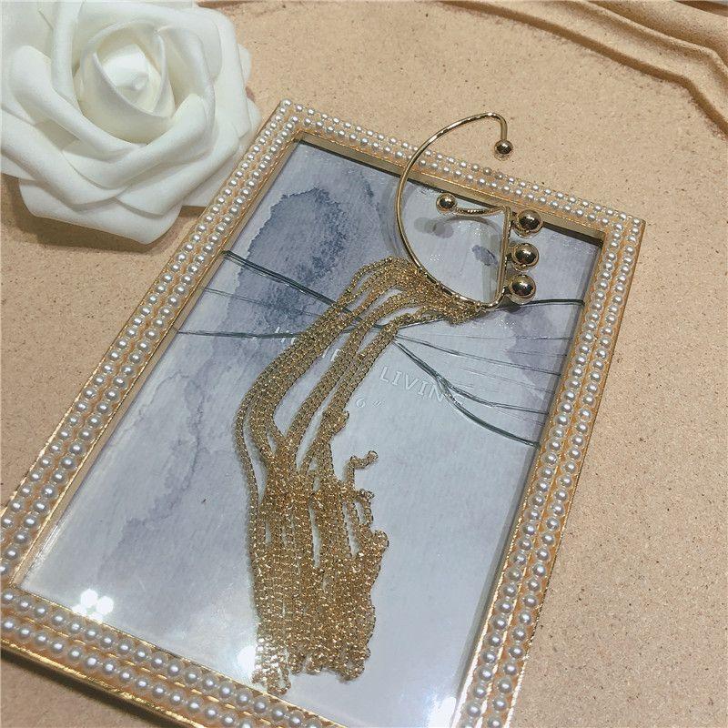 Alloy Fashion Tassel earring  (Alloy single ear hook)  Fashion Jewelry NHYQ0057-Alloy-single-ear-hook