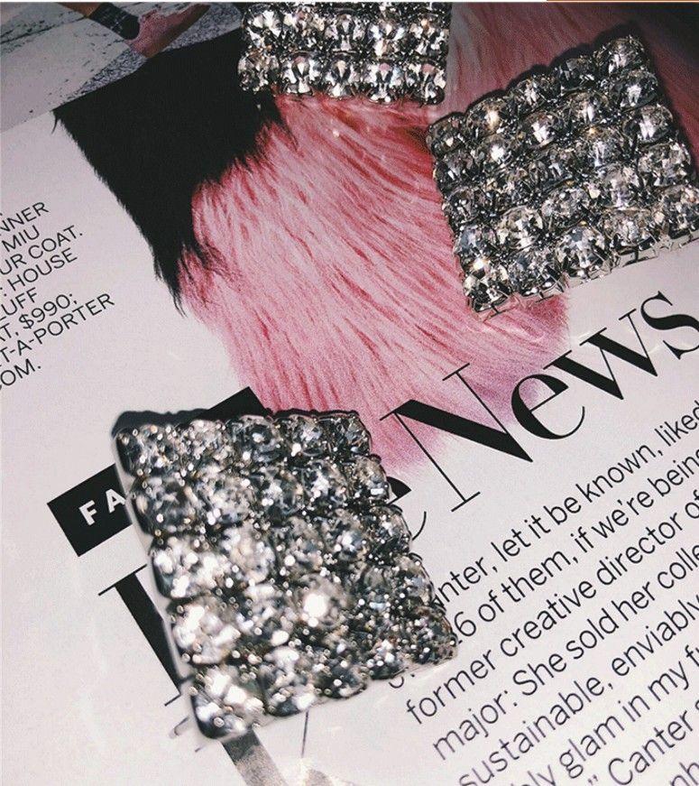 Imitated crystal&CZ Fashion Geometric earring  (Photo Color)  Fashion Jewelry NHYQ0063-Photo-Color
