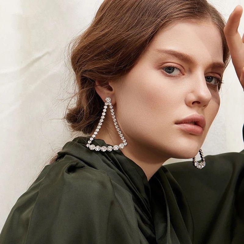 Imitated crystal&CZ Fashion Geometric earring  (Alloy)  Fashion Jewelry NHYQ0101-Alloy