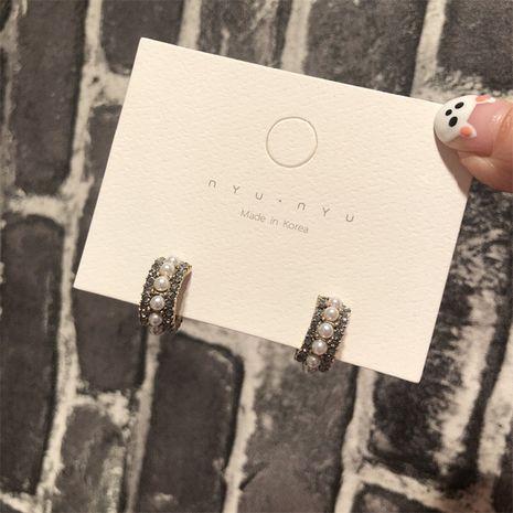 Alloy Korea Geometric earring  (Single row of beadss)  Fashion Jewelry NHYQ0114-Single-row-of-beadss's discount tags