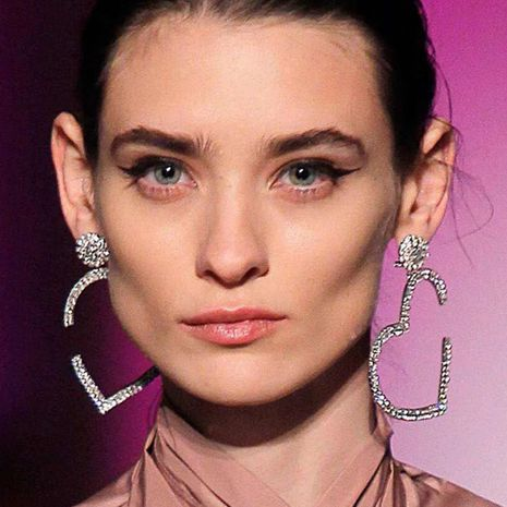 Imitated crystal&CZ Fashion Sweetheart earring  (Photo Color)  Fashion Jewelry NHYQ0137-Photo-Color's discount tags