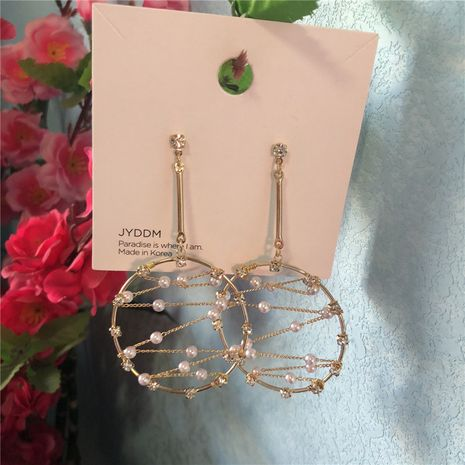 Beads Korea Geometric earring  (Main color + hypoallergenic alloy needle)  Fashion Jewelry NHYQ0141-Main-colorhypoallergenic-alloy-needle's discount tags