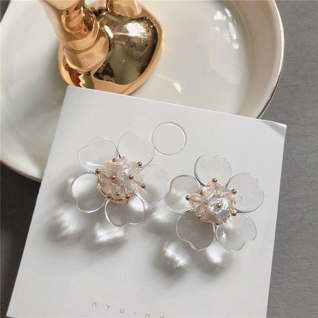 Acrylic Korea Flowers earring  (Main color + steel needle)  Fashion Jewelry NHYQ0142-Main-colorsteel-needle's discount tags