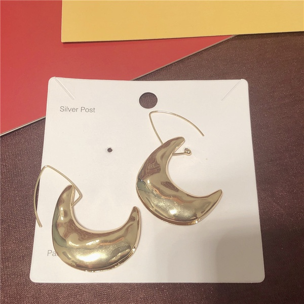 Alloy Fashion Geometric earring  (Crescent alloy)  Fashion Jewelry NHYQ0146-Crescent-alloy