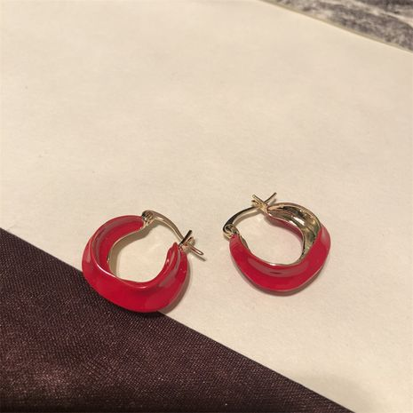 Alloy Korea Geometric earring  (red)  Fashion Jewelry NHYQ0153-red's discount tags