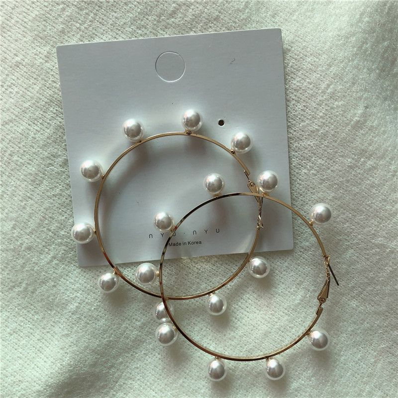 Alloy Vintage Geometric earring  (Big circle beads)  Fashion Jewelry NHYQ0172-Big-circle-beads