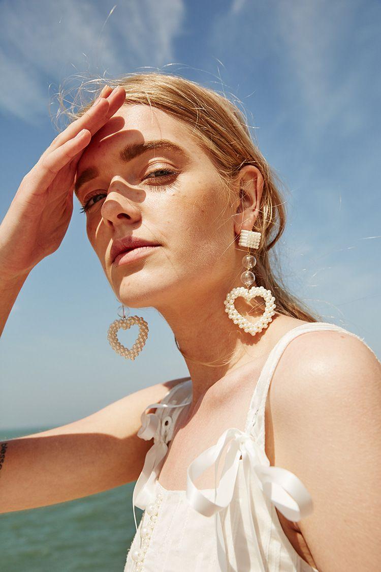 Beads Fashion Sweetheart earring  (Photo Color)  Fashion Jewelry NHYQ0174-Photo-Color