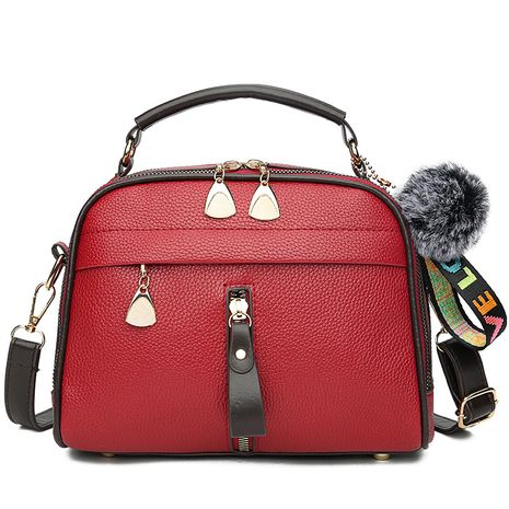PU Fashion  handbag  (red)  Fashion Bags NHXC1055-red's discount tags