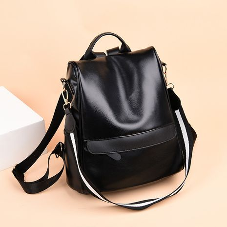 PU Fashion  backpack  (black)  Fashion Bags NHXC1058-black's discount tags