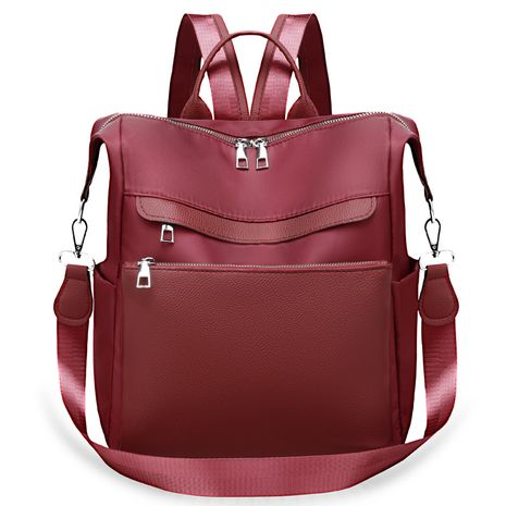 PU Fashion  backpack  (Red wine)  Fashion Bags NHXC1064-Red-wine's discount tags