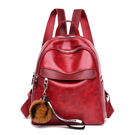 PU Fashion  backpack  (red)  Fashion Bags NHXC1069-red's discount tags