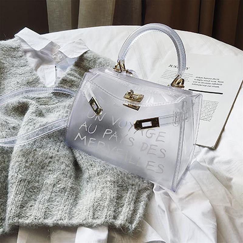 Polyester Korea  handbag  (white)  Fashion Bags NHTC3296-white