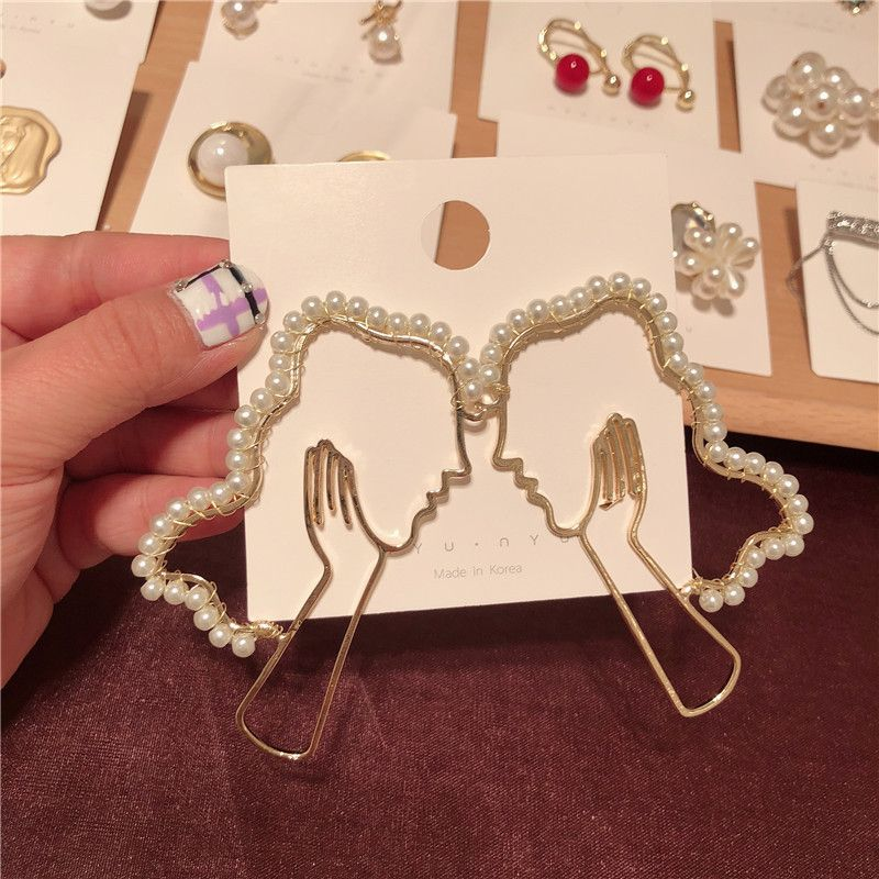 Alloy Fashion Geometric earring  Inlaid beads  Fashion Jewelry NHYQ0291Inlaidbeads