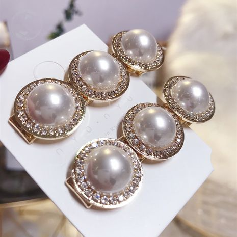 Beads Simple Geometric Hair accessories  (White single price)  Fashion Jewelry NHSM0416-White-single-price's discount tags
