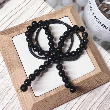 Beads Korea Bows Hair accessories  (black)  Fashion Jewelry NHSM0428-black's discount tags