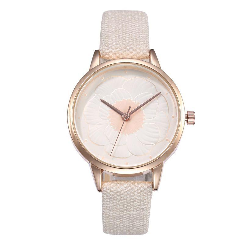 Alloy Fashion Flowers Ladies watch  white  Fashion Watches NHHK1336white