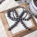 Beads Korea Bows Hair accessories  black  Fashion Jewelry NHSM0428black