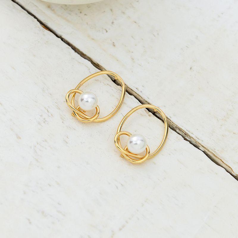 Boucle d39oreille gomtrique simple en alliage aiguille en alliage S925 Aiguille en alliage de bijoux de mode NHQS0611S925