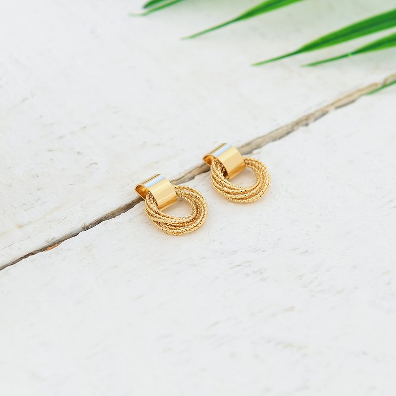 Alloy Simple Geometric earring  (Photo Color)  Fashion Jewelry NHQS0614-Photo-Color