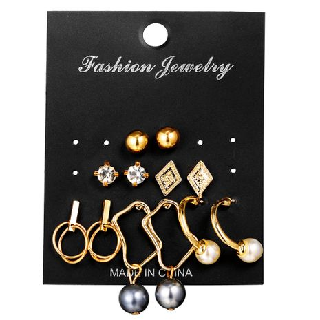Alloy Fashion  earring  (Alloy 6 pairs GFP04-04)  Fashion Jewelry NHPJ0406-Alloy-6-pairs-GFP04-04's discount tags
